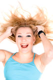 Portrait of happy young blond girl Royalty Free Stock Photos