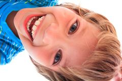 Portrait of happy young boy Stock Images