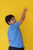 Portrait of a happy young boy painter Royalty Free Stock Photography