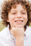Portrait of happy young boy Stock Image
