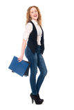 Portrait of happy young business woman. Royalty Free Stock Photography