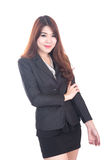 Portrait of happy young business woman Crossed arms Royalty Free Stock Photos