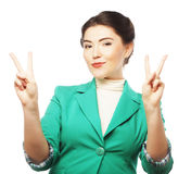 Portrait of happy young business woman Stock Photography