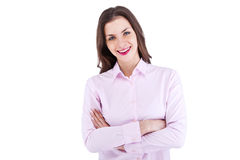 Portrait of happy young business woman Royalty Free Stock Photos
