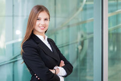 Portrait of happy young business woman Royalty Free Stock Photography