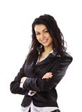 Portrait of a happy young business woman smiling Stock Photography