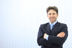 Portrait of happy young businessman Royalty Free Stock Photo