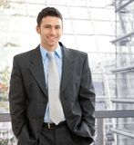 Portrait of happy young businessman royalty free stock photos