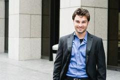 Portrait of a happy young businessman Royalty Free Stock Photos