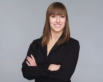 Portrait of a happy young businesswoman Royalty Free Stock Images