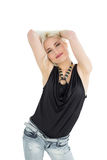 Portrait of happy young casual woman Royalty Free Stock Photography