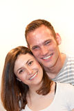 Portrait of a happy young Caucasian couple smiling Royalty Free Stock Images