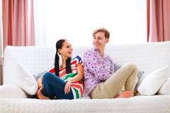 Portrait of happy young couple Royalty Free Stock Images