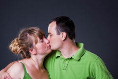 Portrait of happy young couple Royalty Free Stock Photo
