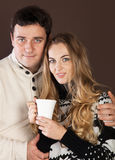 Portrait of a happy young couple Stock Photography