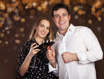 Portrait of a happy young couple Royalty Free Stock Photography