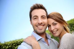 Portrait of happy young couple Royalty Free Stock Photography