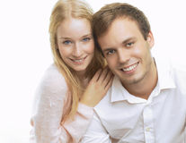 Portrait of a happy young couple Royalty Free Stock Image