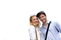 Portrait of happy young couple  outdoors Stock Photography