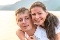 Portrait of a happy young couple Royalty Free Stock Photo