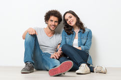 Portrait Of Happy Young Couple royalty free stock photos