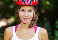 Portrait of happy young cyclist Royalty Free Stock Photo