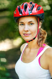 Portrait of happy young cyclist Royalty Free Stock Image