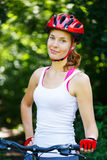 Portrait of happy young cyclist Royalty Free Stock Photos