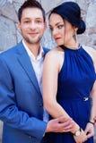 Portrait of happy young elegant couple Royalty Free Stock Photos