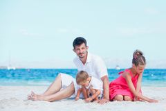 Portrait of happy young family Stock Photos