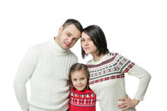 Portrait of happy young family Royalty Free Stock Photo