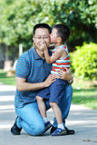 Portrait of a happy young father with his son Stock Images