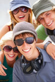 Portrait of happy young friends Royalty Free Stock Image