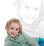 Portrait of happy young girl Royalty Free Stock Images