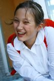 Portrait of happy young girl Royalty Free Stock Photography