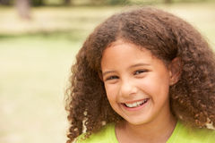 Portrait Of Happy Young Girl In Park stock photos