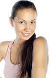 Portrait of a happy young healthy woman Royalty Free Stock Images