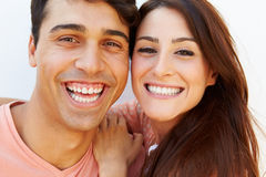 Portrait Of Happy Young Hispanic Couple Stock Image