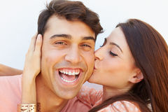 Portrait Of Happy Young Hispanic Couple Stock Photography