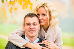 Portrait of happy young love couple Royalty Free Stock Photo