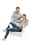 Portrait of happy young loving couple Royalty Free Stock Image