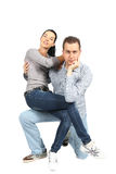 Portrait of happy young loving couple Royalty Free Stock Photo