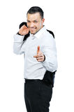 Portrait of a happy young man pointing at you Stock Photo