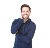 Portrait of happy young man smiling Stock Photography