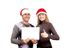 Portrait of a happy young man and woman Stock Photography