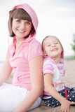 Portrait of happy young mother and daughter. Stock Image