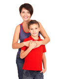 Portrait of a happy young mother with son Royalty Free Stock Photos