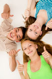 Portrait of a happy young people Stock Image