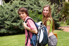 Portrait  happy young students Royalty Free Stock Photo