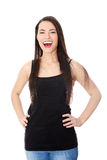 Portrait of a happy young teen woman. Royalty Free Stock Photo